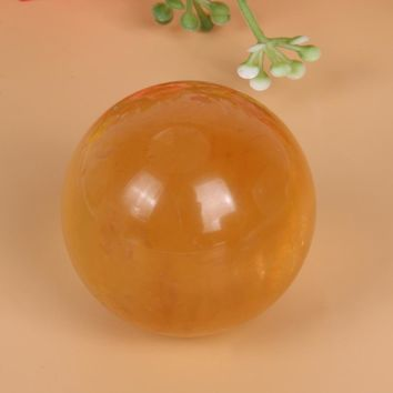 Natural Yellow Jade Quartz Crystal Sphere Ball Stone Healing Reiki Stone Gemstone for Home Office Decoration Crafts Gifts