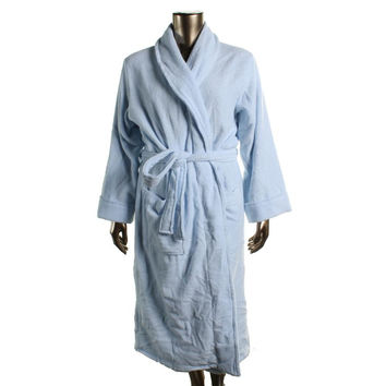 Charter Club Womens Terry Cloth Solid Long Robe