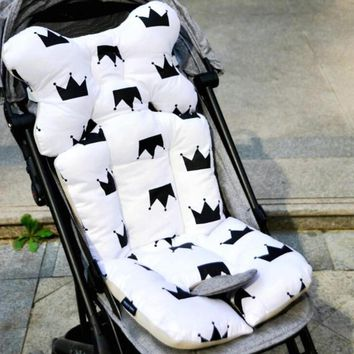 Cotton Baby stroller cushion Diaper Pad infant kids car seat head support protective Neck Protection pad Stroller Accessories R4