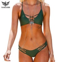 NAKIAEOI Sexy Brazilian Bikini Swimwear Swimsuit Bathing Suit Women Biquini 2016 Push Up Bikini Set Femme Beach Wear Swim Suit