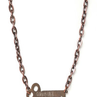 The Giving Key-COURAGE Classic Never Ending Necklace-Silver