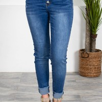 5-Button Cropped Skinny Denim