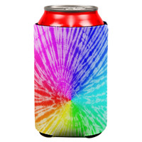 Rainbow Pride LGBT Tie Dye All Over Can Cooler