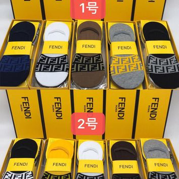 Fendi Fashion 5 Pairs Per Set Sock Style #213