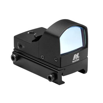 Micro Green Dot Optic with On/Off Switch and 23.5X16.8mm Objective Lens - Black