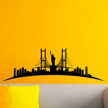 Best New York Skyline Silhouette Wall Art Products on Wanelo