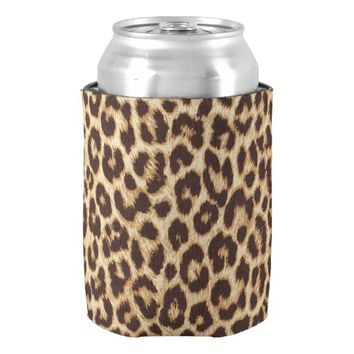 Leopard Print Can Cooler