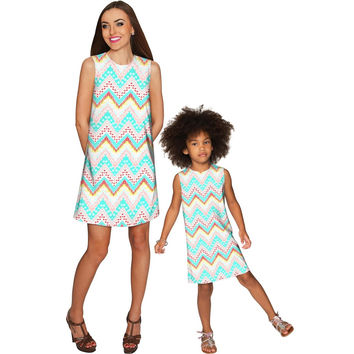 Chevron Please Adele Shift Floral Mommy and Me Dresses
