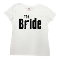 Funny Bride Shirt Bride Clothing Bride To Be T Shirt Bachelorette TShirt Gifts For Bride Wedding The Bride Mobster Shirt Ladies Tee - SA670