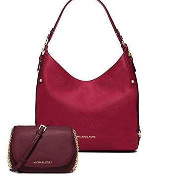 ae4afaa542 michael kors women s new fashion large leather shoulder bag bedford small  leather crossbody scarlet