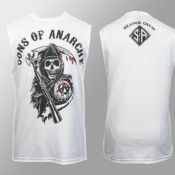 Sons Of Anarchy Classic Reaper Crew Sleeveless Tank S M L XL 2XL 3XL Licensed