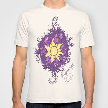 Tangled: Rapunzel's Kingdom Dance Chalk Drawing T-shirt by Channing
