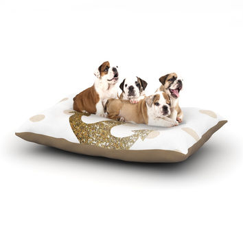"Nika Martinez ""Glitter Anchor"" Gold Sparkles Dog Bed"