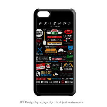 FRIENDS TV SHOW INFOGRAPHIC POSTER. iPhone SE Case Wijayanty.com