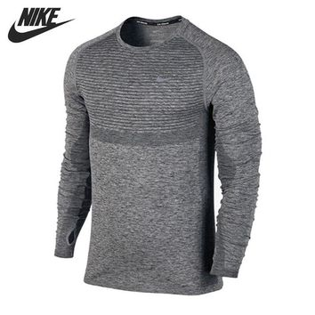 Original New Arrival  NIKE Men's T-shirts shirt Long sleeve Sportswear