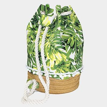 Tropical Leaf Nature Backpack