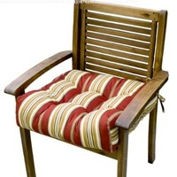 Greendale Home Fashions 20-Inch Indoor/Outdoor Chair Cushion, Roma Stripe