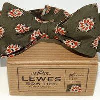 Green Cotton Bow Tie