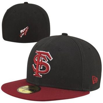 New Era Florida State Seminoles (FSU) Two-Tone 59FIFTY Fitted Hat - Black/Garnet