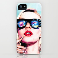 Iggy Azalea- Blue iPhone & iPod Case by Tiffany Taimoorazy | Society6