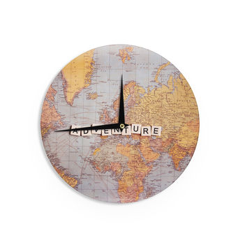 "Sylvia Cook ""Adventure Map"" World Wall Clock"