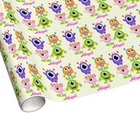 Cute Aliens Custom Kids Wrapping Paper