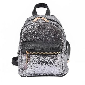 backpacks leather | Girl's School mini Sequins backpacks | Shop