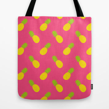 Pineapple Pattern Tote Bag by Ariel Lark | Society6