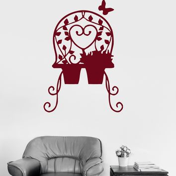 Vinyl Wall Decal Flower Pot Vegetation Room Decoration Stickers Mural Unique Gift (064ig)