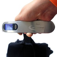 Luggage Scale + Free Life-Long Battery - High Quality Travel Accessories by Brill'Travel at Best Price. Max Capacity 110lb/ 50kg, Extremely Accurate and Precise Digital Readings, Portable, Easy to Use with Multi-Purpose LCD Display Perfect traveler gift. A