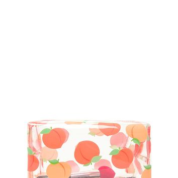 Peach Print Clear Makeup Bag