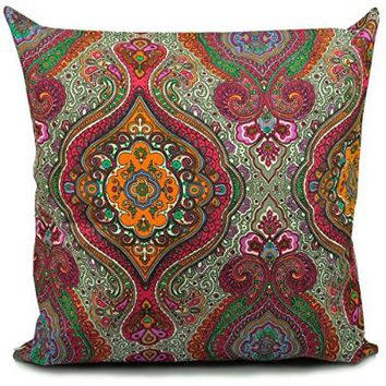 Benfan Canvas Square Decorative Throw Pillow Case Pure Cotton Cushion Cover Decorative Design 18inch