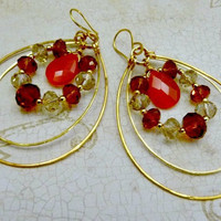 Paula Abdul Gift Replica - 24K Gold Plated  and Crystal Earrings