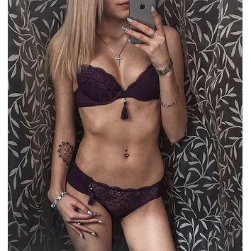 yomrzl new arrival summer sexy lace women's bra and brief set push up bra set gauze underwear set sexy lingerie A017