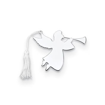 Nickel-plated Trumpeter Angel Ornament W/white Tassel