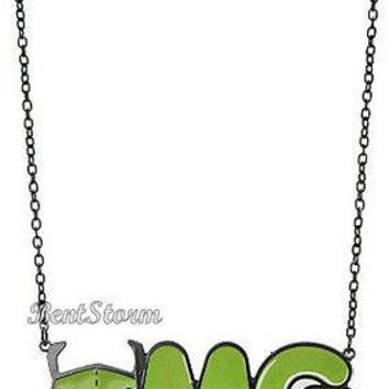 Licensed cool NEW Invader Zim Alien Gir OMG Pendant Necklace Officially Licensed Nickelodeon