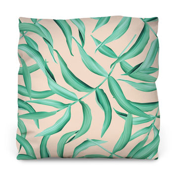 Leaf of the Palm Throw Pillow