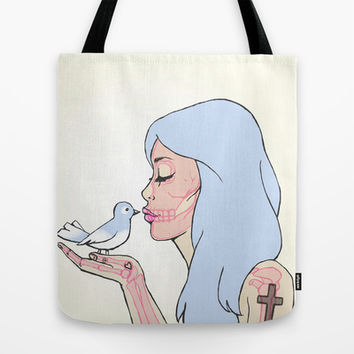 A BIRD IN HAND Tote Bag by BAMBI ONASSIS