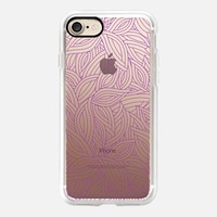 deco purple leaves iPhone 7 Carcasa by Julia Grifol Diseñadora Modas-grafica | Casetify