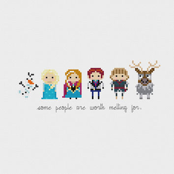 Disney Princess Minis: Frozen Cross Stitch Pattern PDF Instant Download