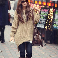 Fashion Irregular Top Sweater Pullover