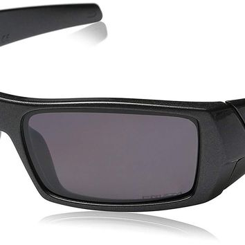 Oakley Men's OO9014 Gascan Polarized Prizm Rectangular Sunglasses