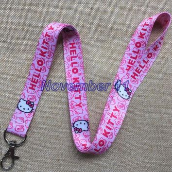Lot 10Pcs Classic hello kitty Cartoon Mobile Cell Phone Lanyard Neck Straps Party Gifts MM915