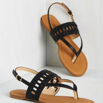 Tiki Bar Star Sandal in Black
