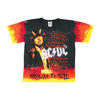 AC/DC Men's  Highway To Hell Tie Dye T-shirt Multi