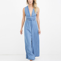 CORIANNE WIDE LEG DENIM JUMPSUIT