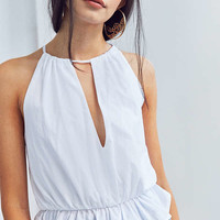 Ecote Peplum Keyhole Cami | Urban Outfitters