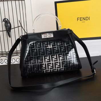 Fashion Fendi Women Leather monnogam Handbag Crossbody bags Shouldbag Bumbag