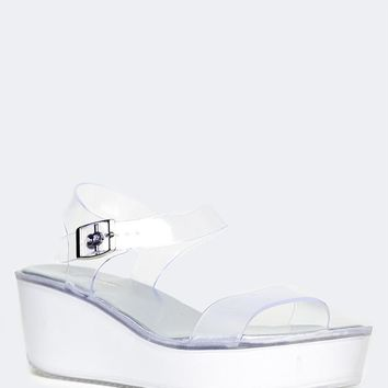 Jelly Platform Wedge Sandals
