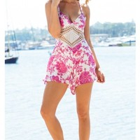 Havana Playsuit in Pink Paisley Print